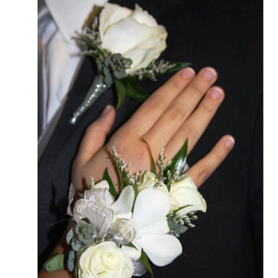 Matching Wristlet and Boutonniere