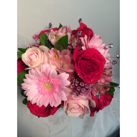 Hand Held Bouquet with Rhinestones
