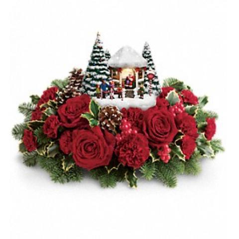 Kinkade's Jolly Santa Bouquet