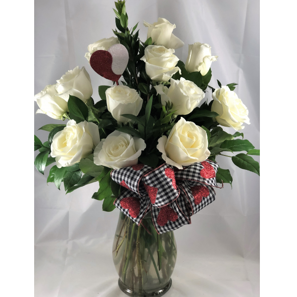 White Valentine Roses