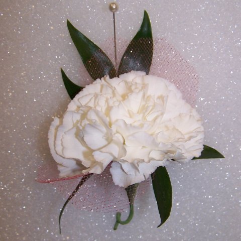 Traditional Carnation Boutonniere