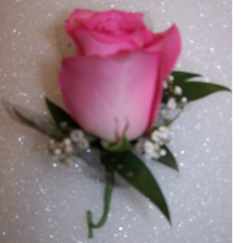 Perfect Pink Boutonniere