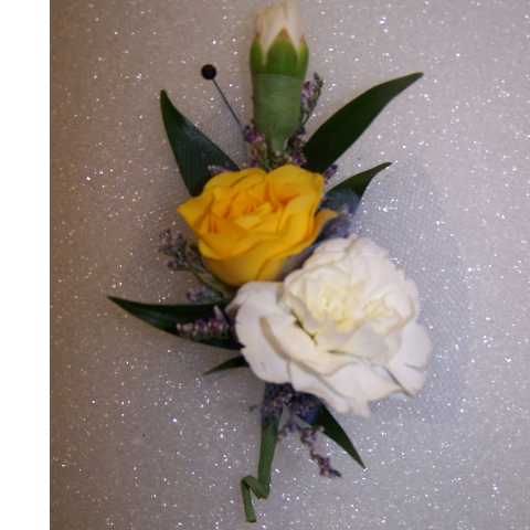 Colorful Charm Boutonniere