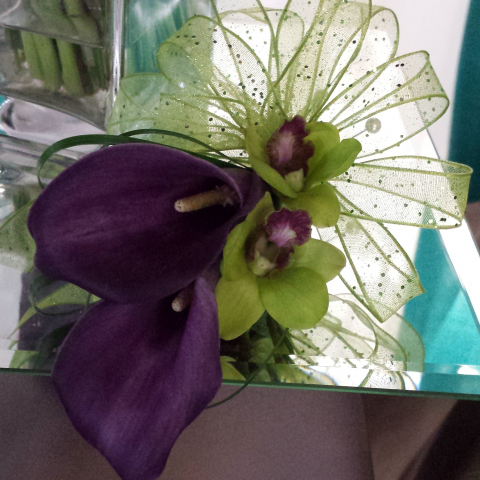 Jacques Flower Shop - Manchester JQW Mini Callas & Dendrobium Corsage