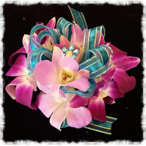 Jacques Flower Shop - Manchester JQP Fuschia Orchids & Turquoise
