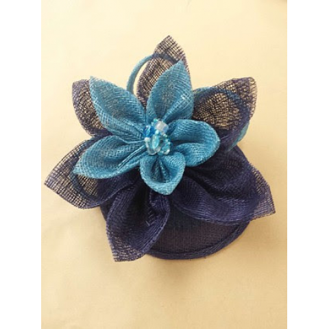 Jacques Flower Shop - Manchester JayMay Fascinator: Blue & Turquoise