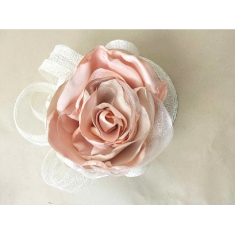 Jacques Flower Shop - Manchester JayMay Fascinator: Peach Rosette