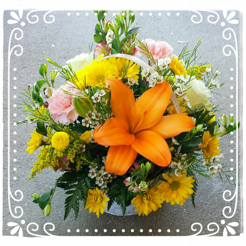 Jacques Flower Shop - Manchester JQM Happy Day Basket