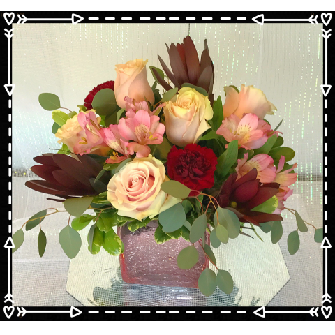 Jacques Flower Shop - Manchester JQ Blush & Burgundy