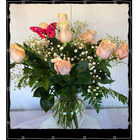Jacques Flower Shop - Manchester JQ Soft Pink Roses