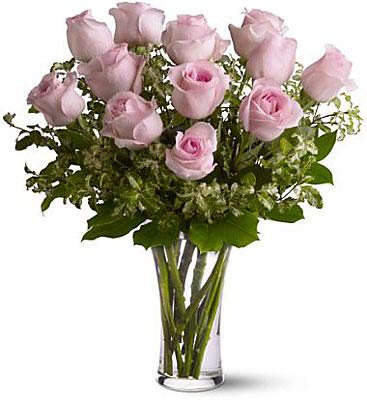 Jacques Flower Shop - Manchester A Dozen Pink Roses