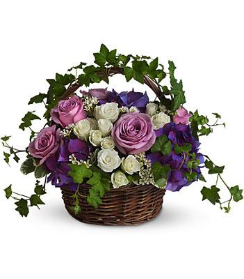 Jacques Flower Shop - Manchester A Full Life Basket Bouquet