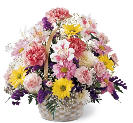 Jacques Flower Shop - Manchester Basket of Cheer Bouquet