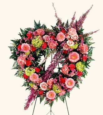 Jacques Flower Shop - Manchester Eternal Rest Heart Wreath