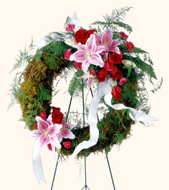 Jacques Flower Shop - Manchester Lily & Rose Wreath