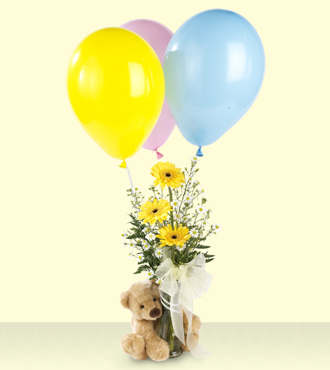 Jacques Flower Shop - Manchester FTD Welcome Bear Bouquet