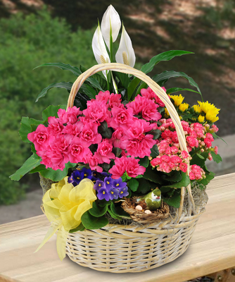Jacques Flower Shop - Manchester JAC Blooming Garden Basket