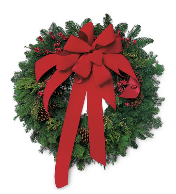 Jacques Flower Shop - Manchester JAC Fresh Evergreen Wreath