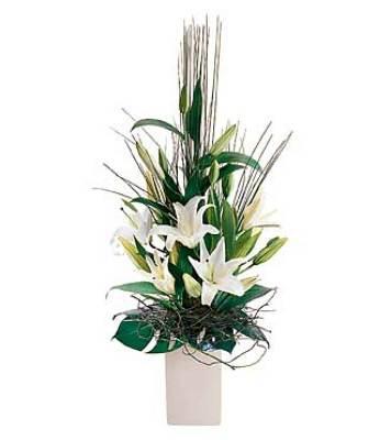 Jacques Flower Shop - Manchester JQ Arrangement of White Lilies