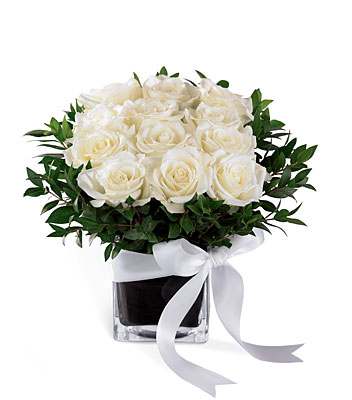 Jacques Flower Shop - Manchester Pure Romance Rose Bouquet