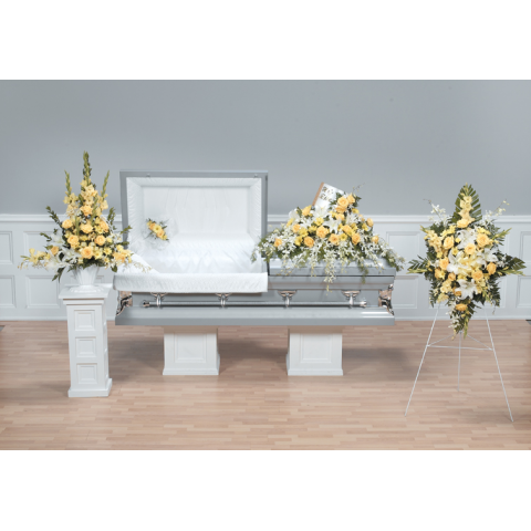 BIBLE CASKET SPRAY AND COORDINATING DESIGNS