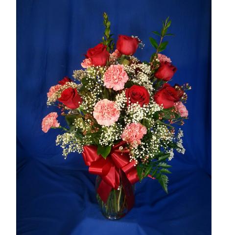 Rose & Carnation Duo