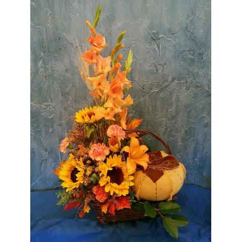 Log Cabin Pumpkin Spice Latte Bouquet