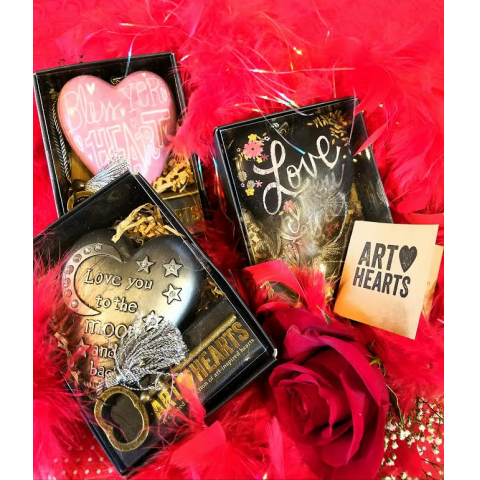 VALENTINE ART HEARTS