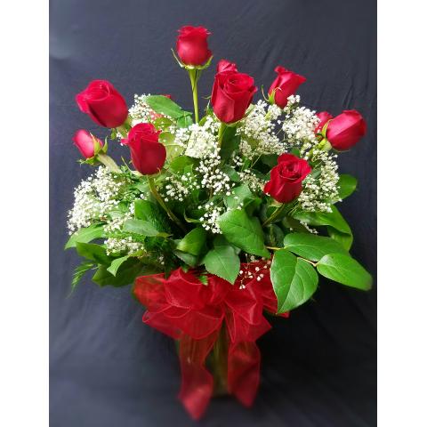 Dozen Long Stem Fancy Roses