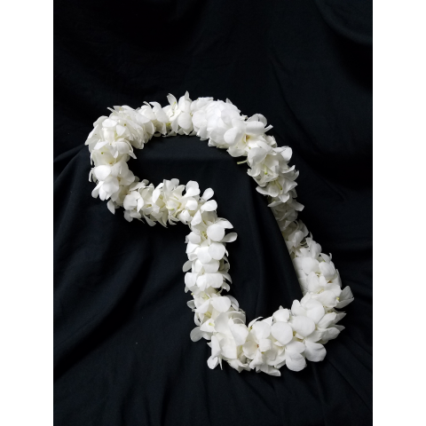White Double Orchid Lei