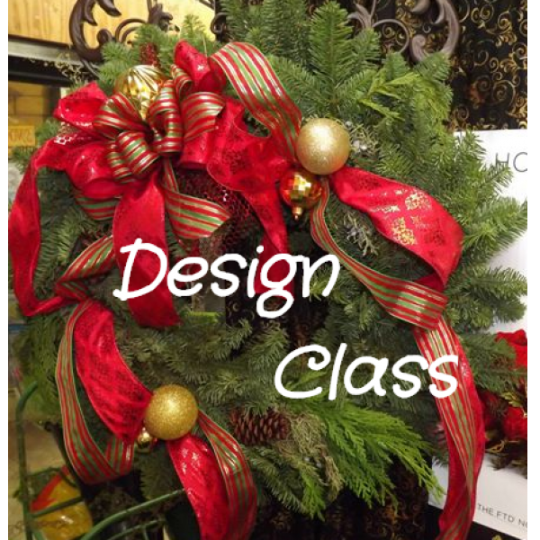 Holiday Wreath Design Class