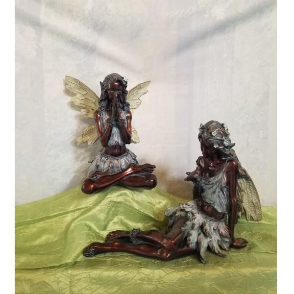 Whimsical Bronze Fairies