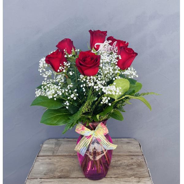 Best Mom Half Dozen Roses
