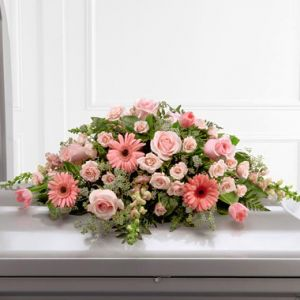 Shell Pink Casket Cover