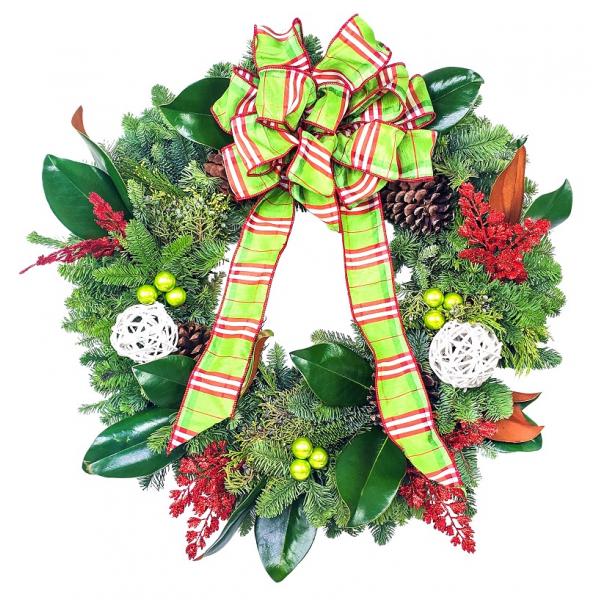 Modern Mixed Green Wreath