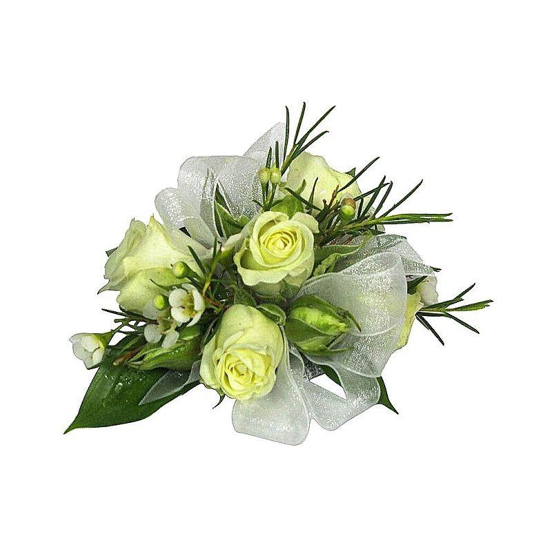 Classic White Rose Corsage