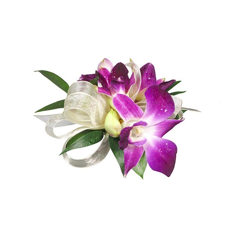 Purple Dedrobium Orchid Corsage