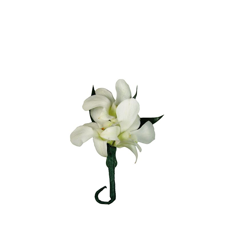 White Dendrobium Orchid Boutonnniere