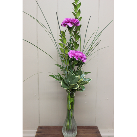 Double Carnation Budvase