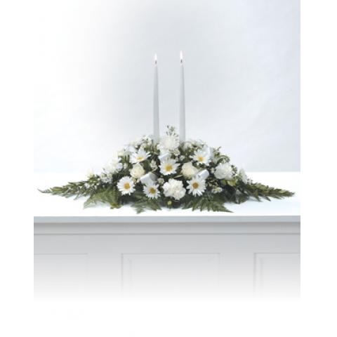 White Candles Arrangement CTT4-11