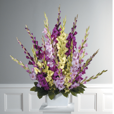 Shades of Purple Gladiolus Pedestal Arrangement CTT 51-11
