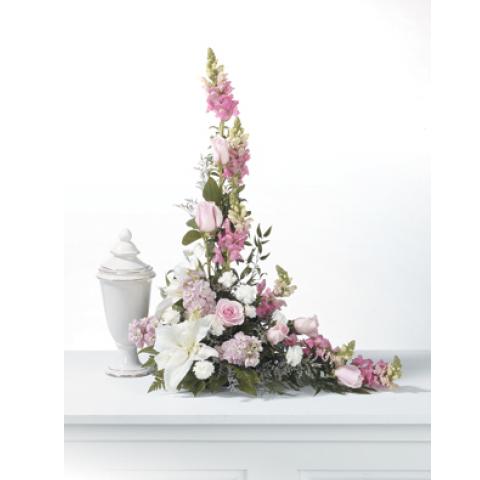 Lavenders and Pinks Memorial Urn Arrangement CTT 63-11
