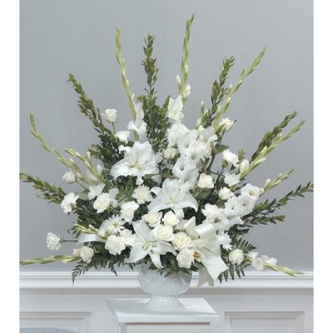 Graceful white urn CTT15-11