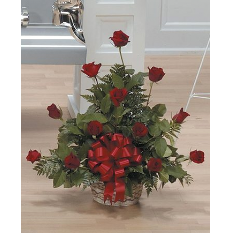 Red Rose Basket Arrangement CTT19-14