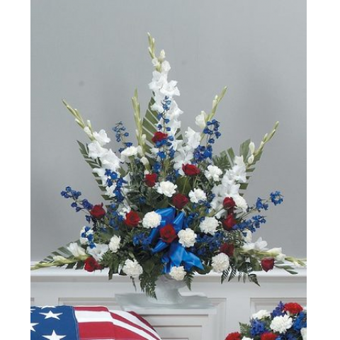 Traditional Red, White and Blue Mache CTT29-11