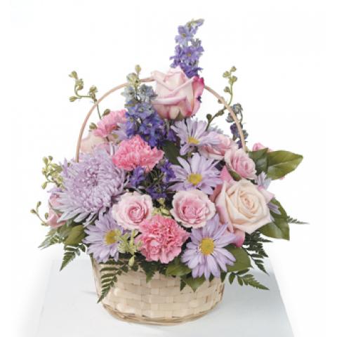 Pinks and Lavenders Basket Arrangement CTT61-32