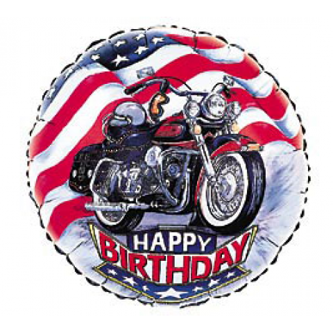 Happy Birthday Motorcycle Mylar