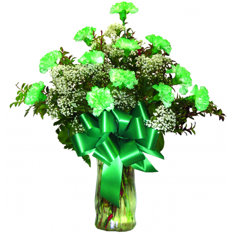 St. Patrick's Day Carnations