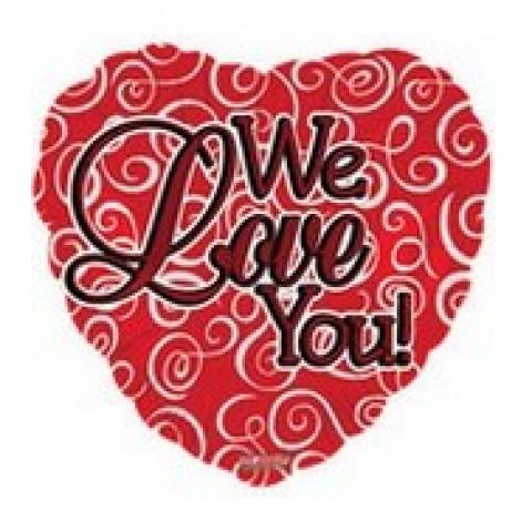 We Love You Mylar