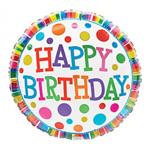 Birthday Polka-dots and Stripes